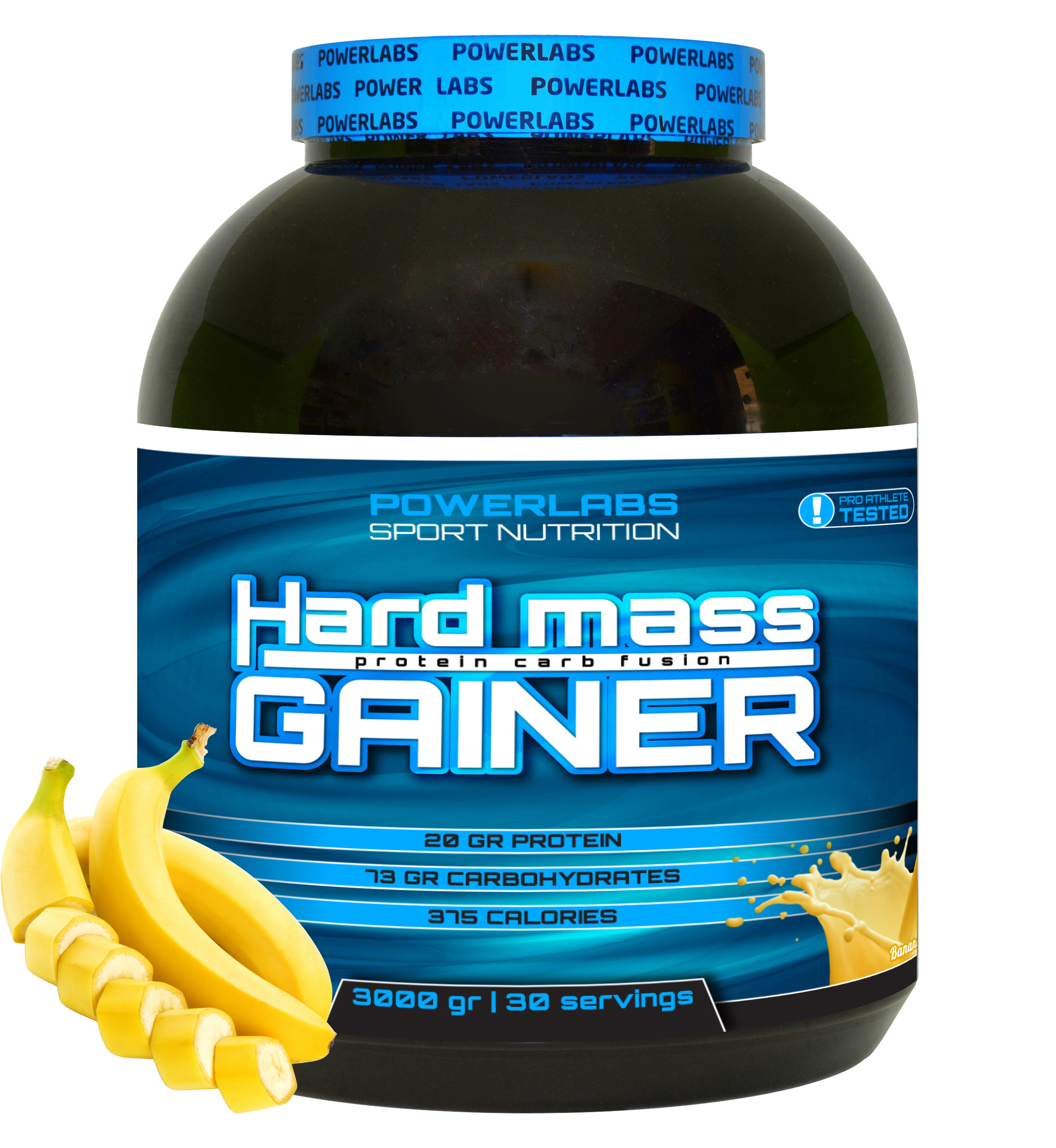 Гейнер PowerLabs Hard Mass Gainer 3000 g Банан