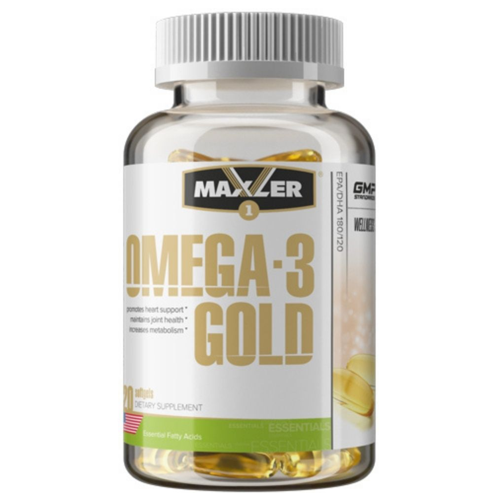 Витамины Maxler Omega 3 Gold 120 softgels