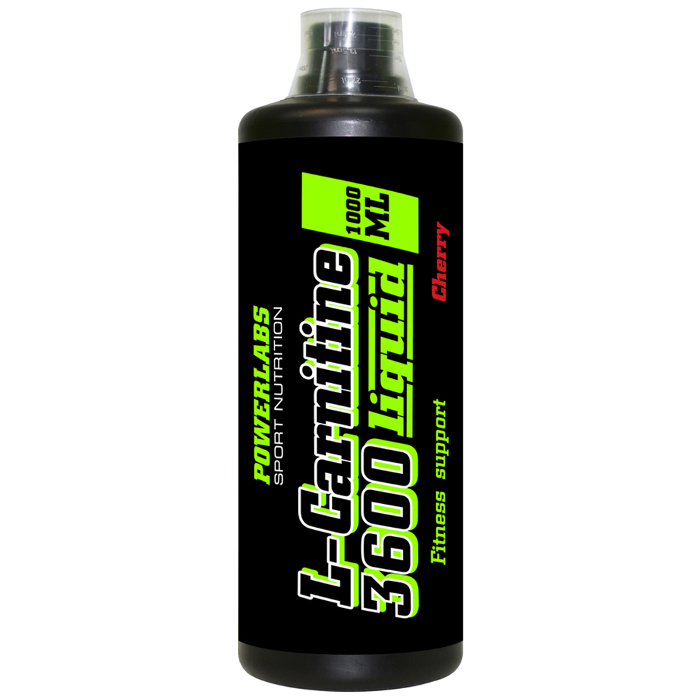 L-карнитин PowerLabs L-Carnitine 3600 mg 1000 ml Яблоко